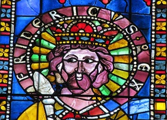 13th-century stained glass image of Frederick I, Strasbourg Cathedral