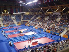 Galatsi Olympic Hall hosted gymnastics (rhythmic) and table tennis