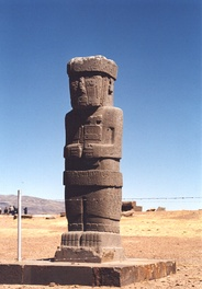 Ponce monolith in the sunken courtyard of the Tiwanaku's Kalasasaya temple