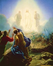 Moses appearing at the Transfiguration of Jesus