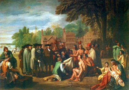 Benjamin West's painting (in 1771) of William Penn's 1682 treaty with the Lenni Lenape
