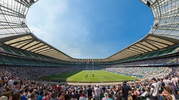 Twickenham, home of the England rugby union team, has an 82,000 capacity, the world's largest rugby union stadium