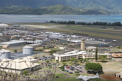 US Navy 100924-M-9232S-003 An aerial view of Marine Corps Base Hawaii at Kaneohe Bay.jpg
