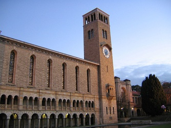 Winthrop Hall, a prominent landmark on the main UWA campus.
