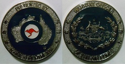 Challenge Coin of the Warrant Officer of the Air Force, Royal Australian Air Force; Specifically, WOFF-AF Mark Pentreath.