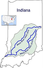The two forks of the White River