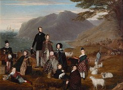 Scottish Highland family migrating to New Zealand in 1844