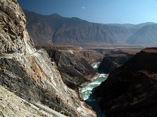 The Yangtze River near the Tiger Leaping Gorge