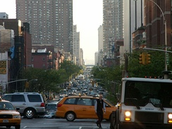 Looking south on Tenth Avenue from 59th Street