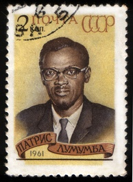 1961 Soviet stamp commemorating Patrice Lumumba, prime minister of the Republic of the Congo