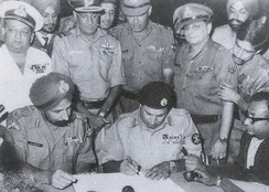 The Surrender of Pakistan took place on 16 December 1971 at the Ramna Race Course in Dhaka, marking the liberation of Bangladesh.