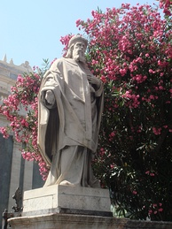 A statue of Athanasius in Catania, Sicily.