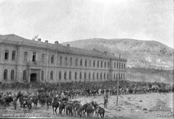 The Turkish Hospital in Damascus on 1 October 1918, shortly after the entry of the Australian 4th Light Horse Regiment
