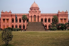 The Ahsan Manzil is one of the largest residences in Old Dhaka, where there are many Indo-Saracenic buildings