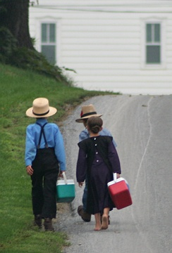 The United States has passed a law that allows Amish children older than 14 to work in traditional wood enterprises with proper supervision.