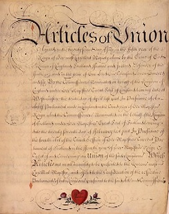 """Articles of Union with Scotland"", 1707"