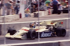 Thierry Boutsen driving for Arrows at the 1984 Dallas Grand Prix.