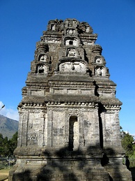 Bima temple, one of Dieng temples. It was one of the earliest temple in Java.