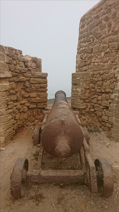 Old cannon from the Republic time. Salé, Morocco