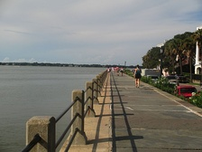 The downtown Charleston waterfront on The Battery