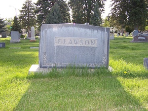 Clawson family grave marker