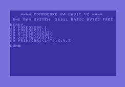 Commodore BASIC v2.0 on the Commodore 64