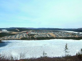 Mining town of Fermont, North Shore, the beginning of the road of iron.