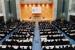 The World Trade Organization Ministerial Conference of 1998, in the Palace of Nations (Geneva, Switzerland).