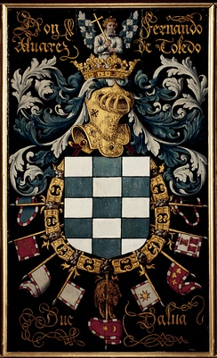 Coat of arms of the 3rd Duke of Alba.