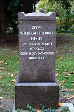 Hegel's tombstone in Berlin