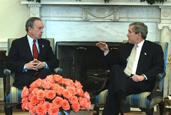 Bloomberg with President George W. Bush in 2003