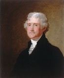 The third President of the United States, Thomas Jefferson, c. 1821, National Gallery of Art, Washington, D.C.
