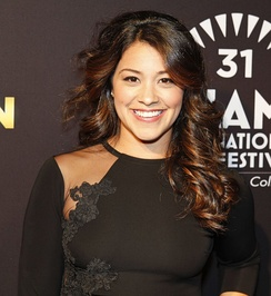 Gina Rodriguez at the Miami premiere of Filly Brown