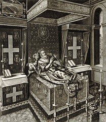 Lying in state at the Louvre, engraving after François Quesnel