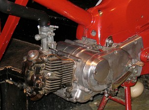 A Honda Super Cub engine. The most popular motorcycle in history, with over 100 million produced.