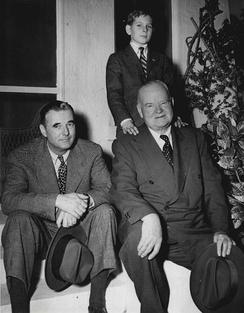 Hoover with his son Allan (left) and his grandson Andrew (above), 1950