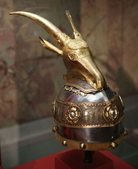 The helmet of Skanderbeg.