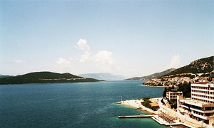 The coast of Neum, the only town to be situated along Bosnia and Herzegovina's 20 km (12 mi) of coastline
