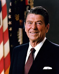 Ronald Reagan, 40th President of the United States (1981–1989)