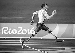 A runner in the Rio 2016 Paralympic Games