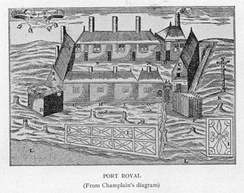 Port-Royal from Samuel de Champlain's diagram, circa 1612.