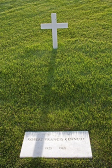 Robert F. Kennedy's grave in Arlington National Cemetery