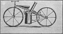 An 1860s drawing of the Roper steam velocipede