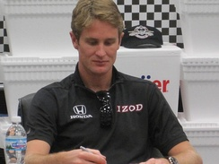 Hunter-Reay in 2010 at an autograph signing.