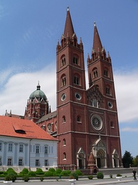 Cathedral of St. Peter in Đakovo, a distinctive symbol of Slavonia[38]