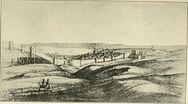 Hollar's landscape of Tanger at the beginning of its English occupation