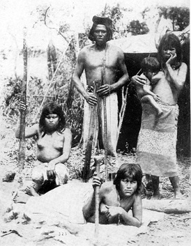 Toba chief, wives, and child, Paraguai River, 1892