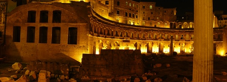 Night view of Trajan's Market, built by Apollodorus of Damascus