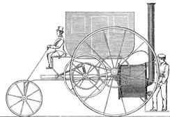 The London Steam Carriage, by Trevithick and Vivian, demonstrated in London in 1803