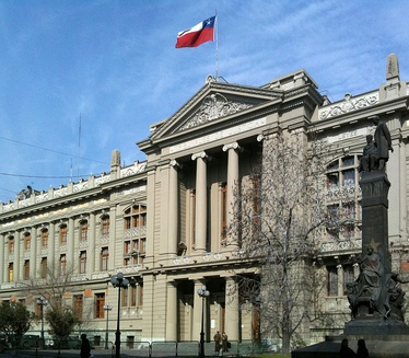 The Justice Courts Palace (Palacio de los Tribunales de Justicia) in Santiago. This is the seat of Supreme Court.